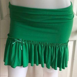 Adorable Green Flowy Skirt